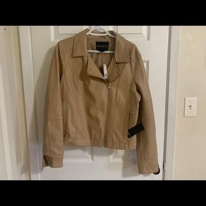 3/30 Forever 21 plus size taupe moto jacket